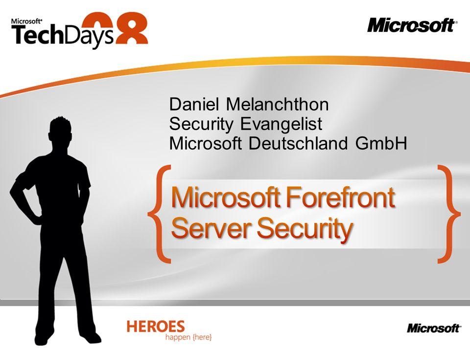 Daniel Melanchthon Security Evangelist Microsoft Deutschland GmbH
