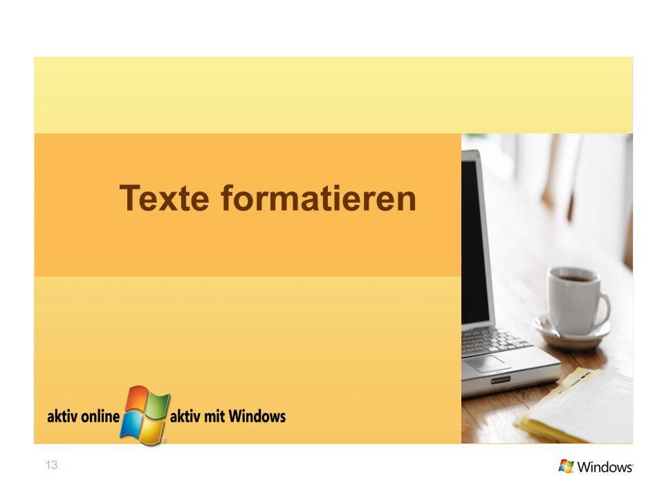 13 Texte formatieren
