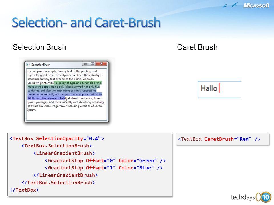 Selection BrushCaret Brush