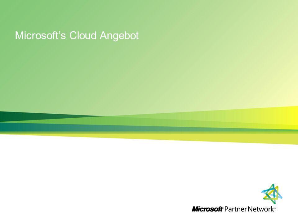 Microsofts Cloud Angebot