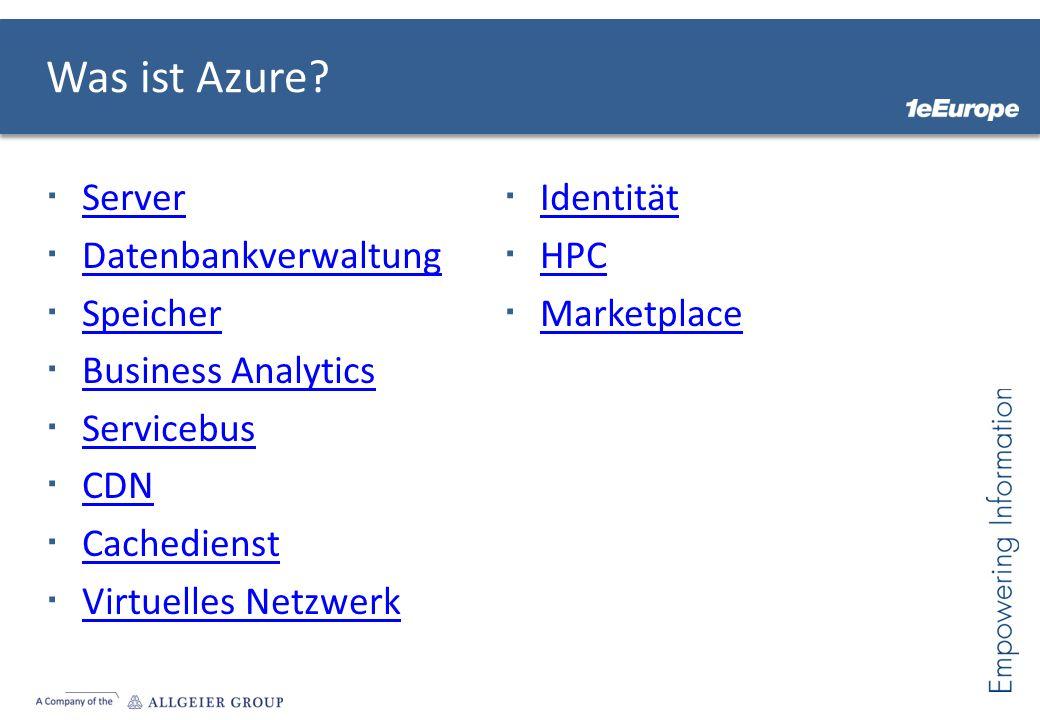 Was ist Azure.