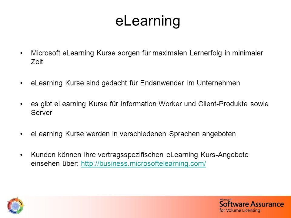 eLearning Microsoft eLearning Kurse sorgen für maximalen Lernerfolg in minimaler Zeit eLearning Kurse sind gedacht für Endanwender im Unternehmen es g