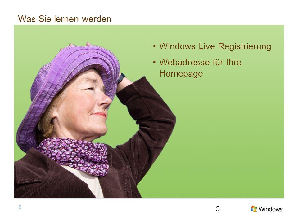 5 Was Sie lernen werden Windows Live Registrierung Webadresse für Ihre Homepage 5