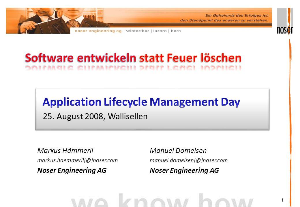 1 Markus Hämmerli markus.haemmerli[@]noser.com Noser Engineering AG 25.