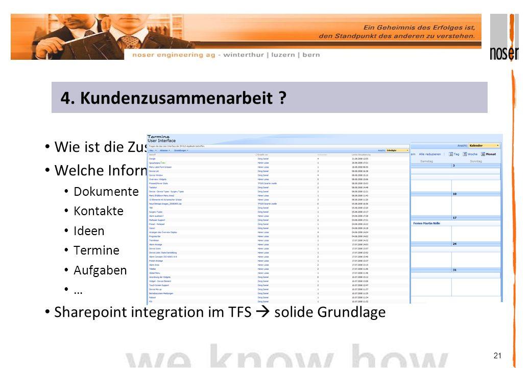 21 Wie ist die Zusammenarbeit koordiniert.Welche Informationen sollen ausgetauscht werden.