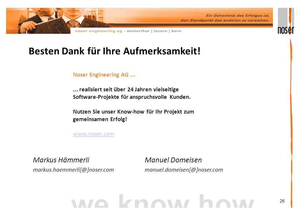 26 Besten Dank für Ihre Aufmerksamkeit.Noser Engineering AG......