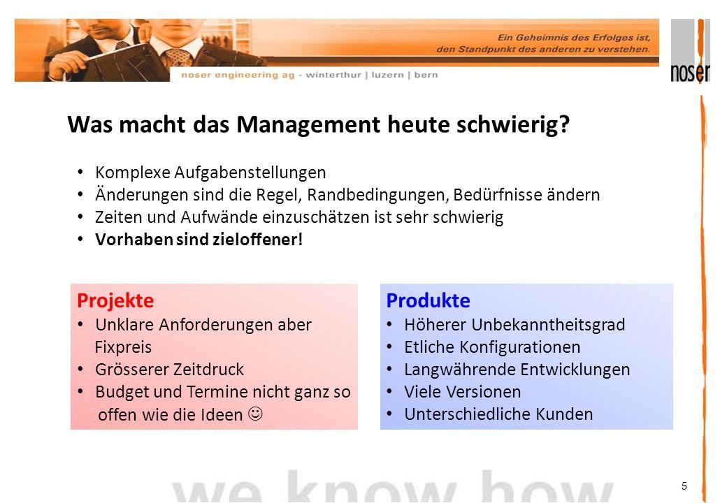 5 Was macht das Management heute schwierig.