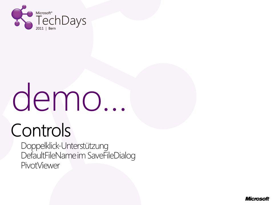 Controls Doppelklick-Unterstützung DefaultFileName im SaveFileDialog PivotViewer demo…