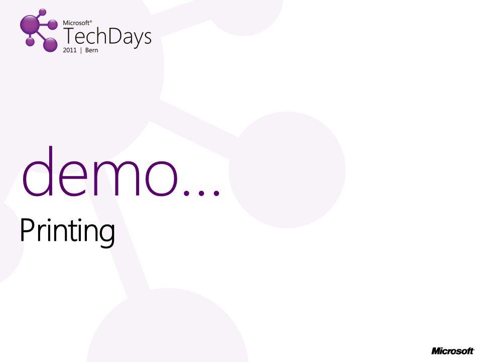 Printing demo…