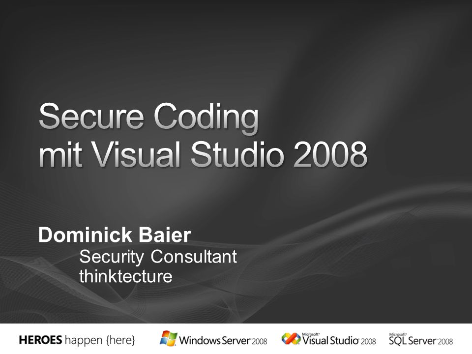 Dominick Baier Security Consultant thinktecture