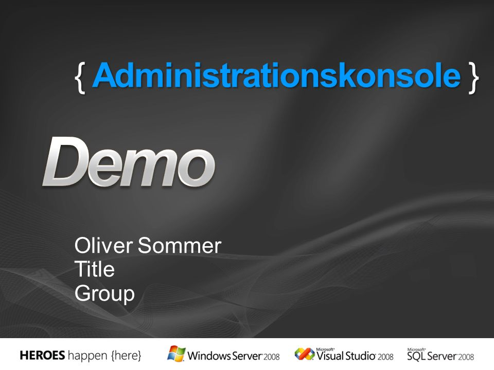 { Administrationskonsole } Oliver Sommer Title Group