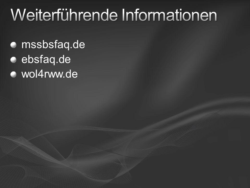 mssbsfaq.de ebsfaq.de wol4rww.de