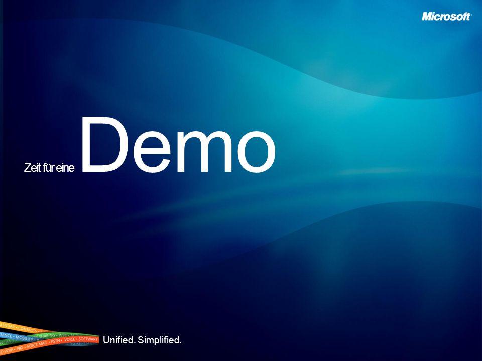 Unified. Simplified. Zeit für eine Demo