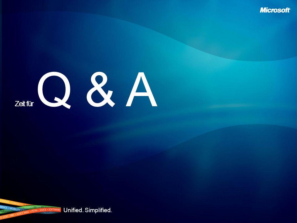 Unified. Simplified. Zeit für Q & A