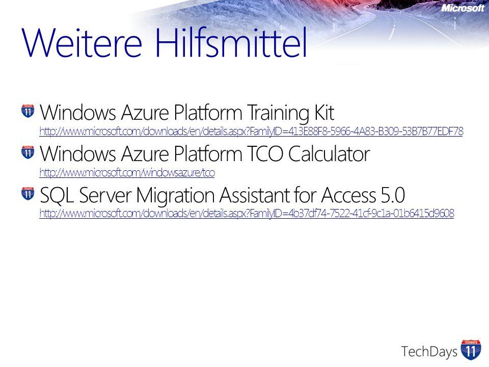 Windows Azure Platform Training Kit http://www.microsoft.com/downloads/en/details.aspx?FamilyID=413E88F8-5966-4A83-B309-53B7B77EDF78 http://www.micros