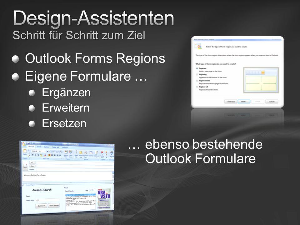 Outlook Forms Regions Eigene Formulare … Ergänzen Erweitern Ersetzen …ebenso bestehende Outlook Formulare