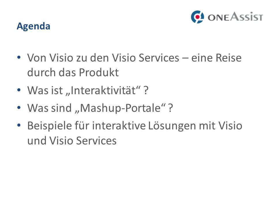 Agenda Von Visio zu den Visio Services – eine Reise durch das Produkt Was ist Interaktivität .