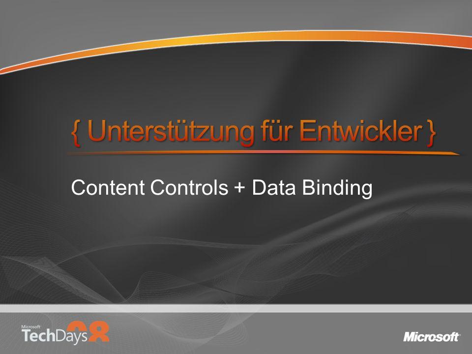 Content Controls + Data Binding
