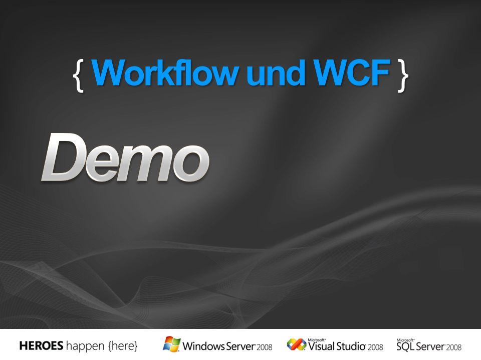 { Workflow und WCF }