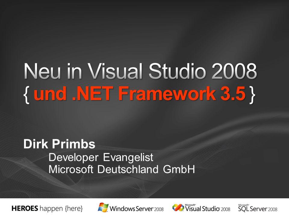 Dirk Primbs Developer Evangelist Microsoft Deutschland GmbH