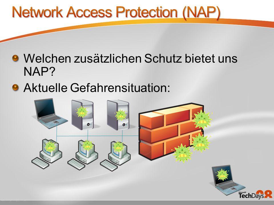 Welchen zusätzlichen Schutz bietet uns NAP? Aktuelle Gefahrensituation: