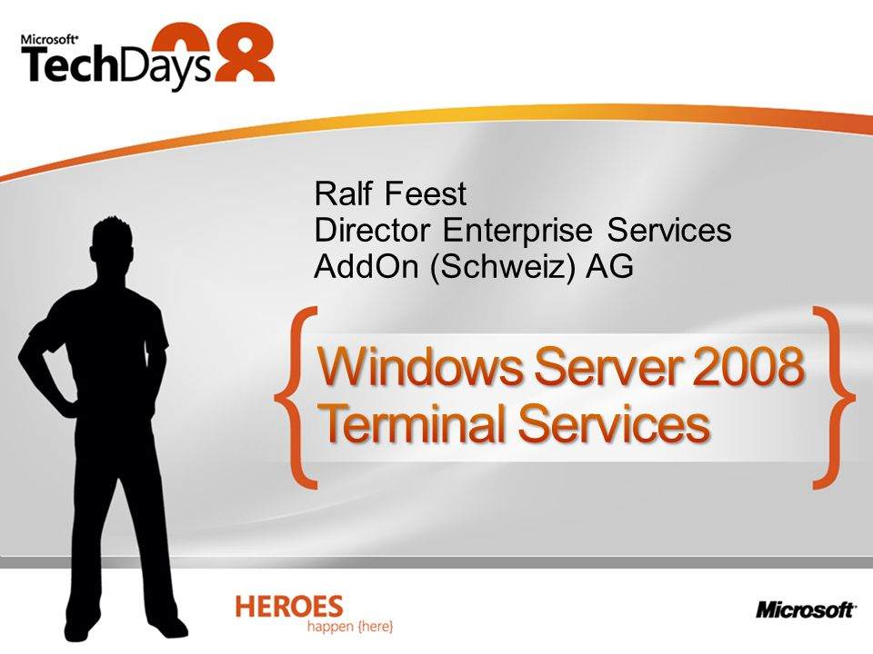 Ralf Feest Director Enterprise Services AddOn (Schweiz) AG
