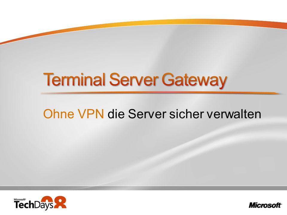 Ohne VPN die Server sicher verwalten