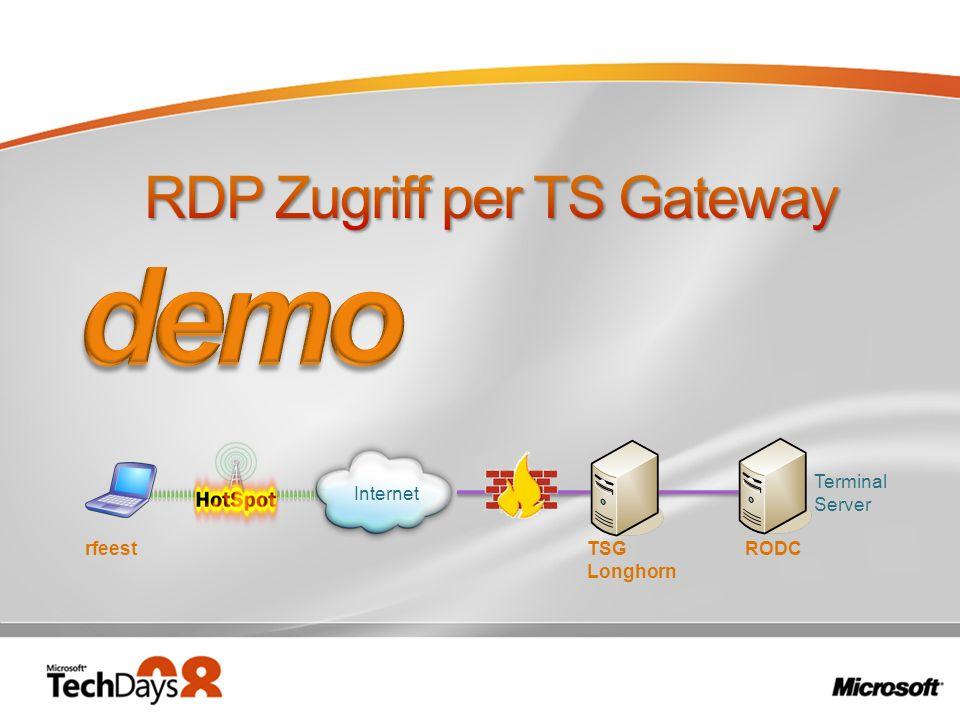 Internet TSG Longhorn Terminal Server RODCrfeest