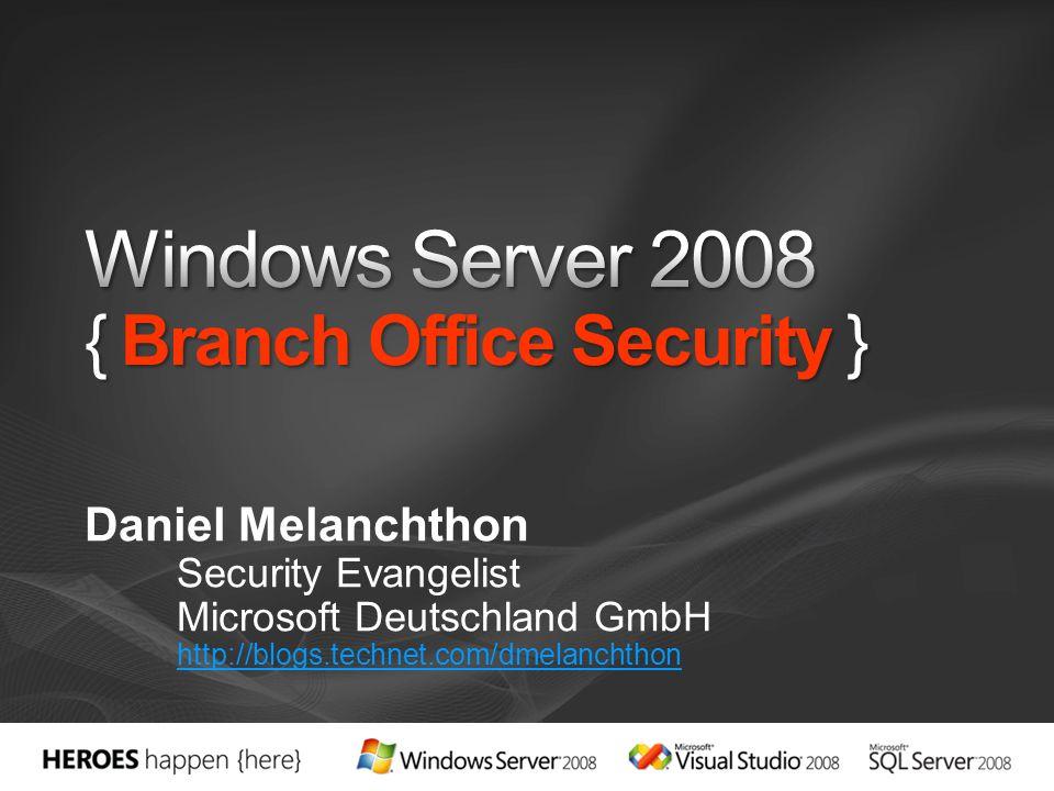 Daniel Melanchthon Security Evangelist Microsoft Deutschland GmbH http://blogs.technet.com/dmelanchthon
