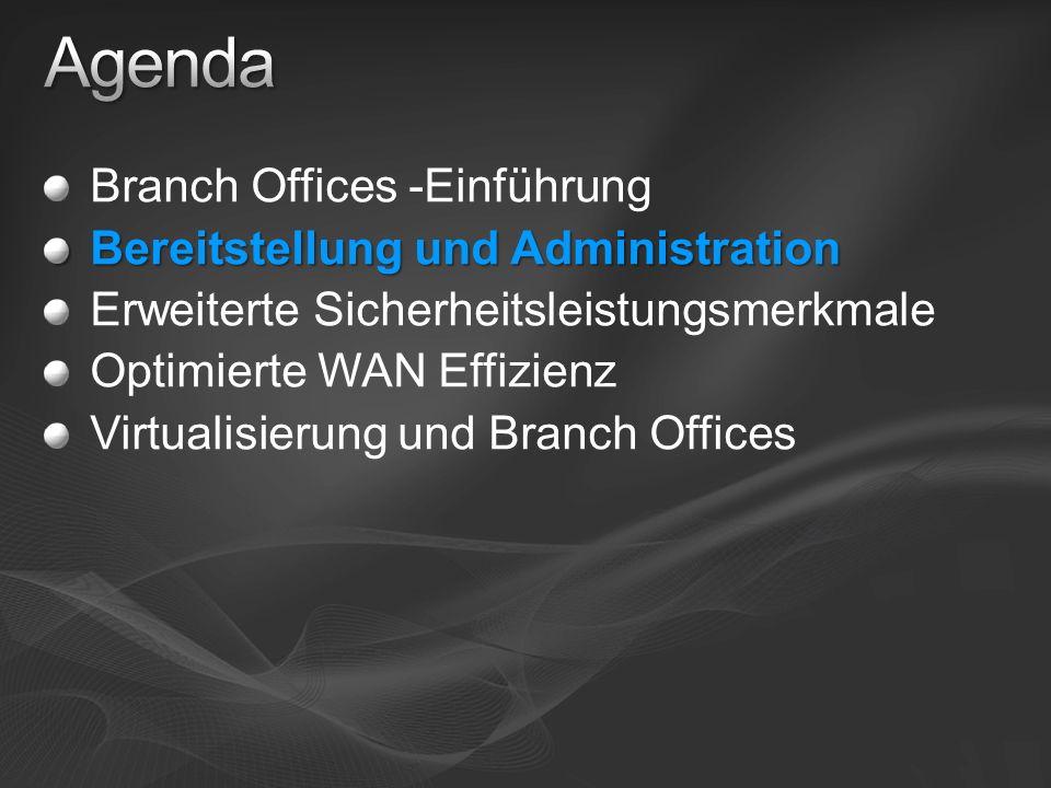 Verbesserte Verwaltung Neue Assistenten Read-Only Domain Controller Server Core Restartable AD DS