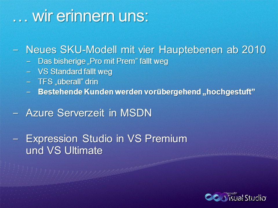 Neues SKU-Modell mit vier Hauptebenen ab 2010 Neues SKU-Modell mit vier Hauptebenen ab 2010 Das bisherige Pro mit Prem fällt weg Das bisherige Pro mit