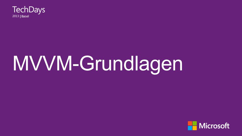   Basel MVVM-Grundlagen