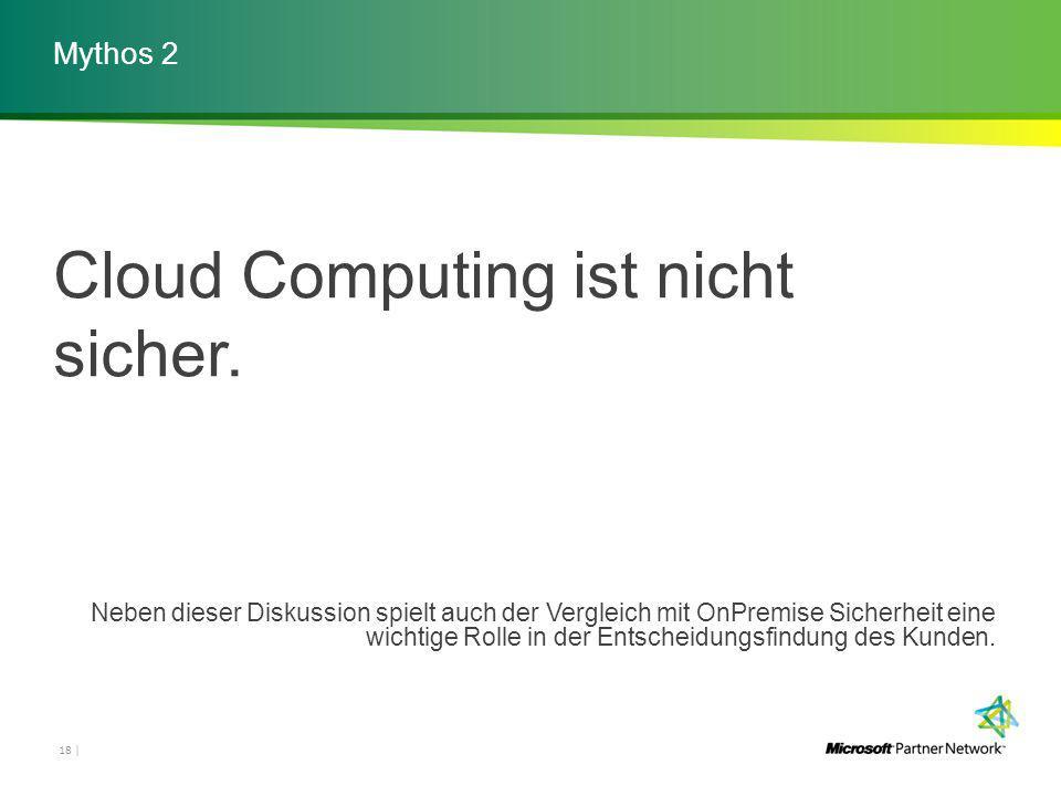 Mythos 2 18 | Cloud Computing ist nicht sicher.
