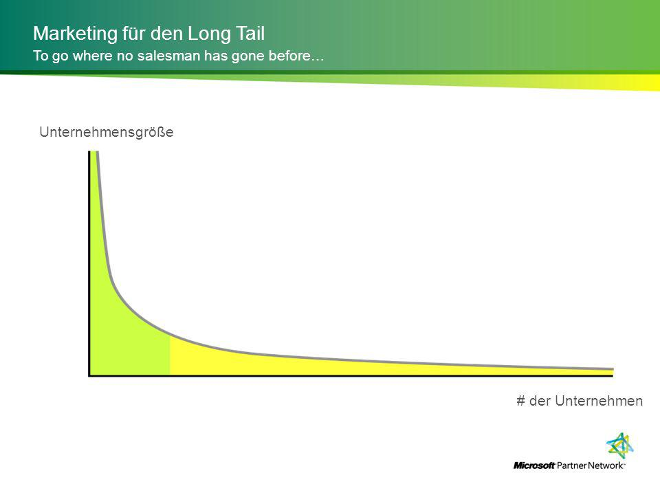 Marketing für den Long Tail To go where no salesman has gone before… Unternehmensgröße # der Unternehmen