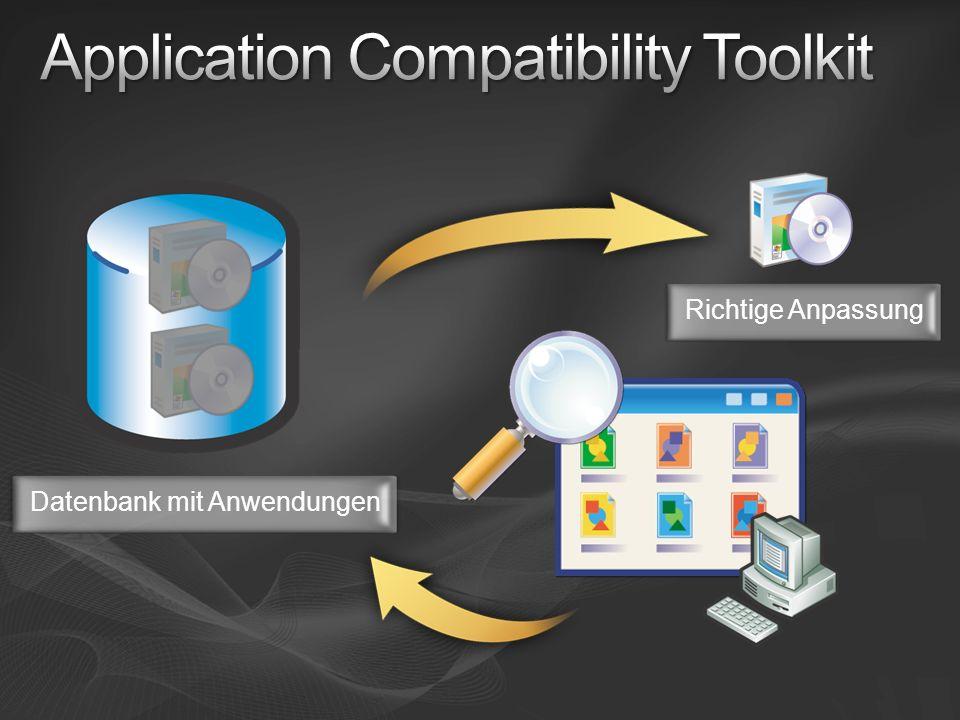 Datenbank mit AnwendungenRichtige Anpassung