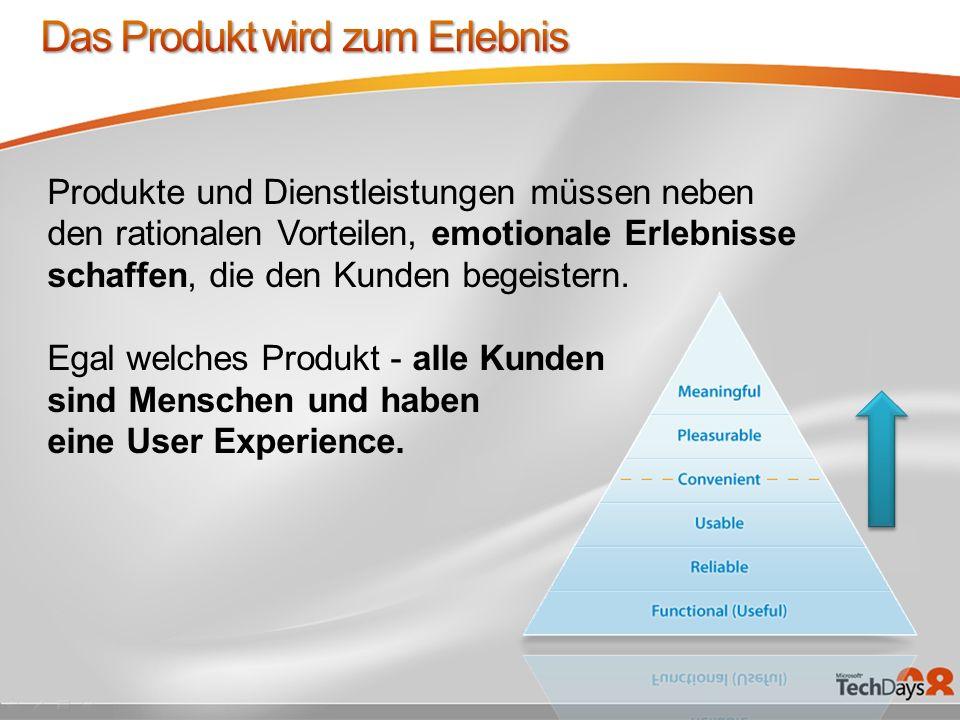 Produkte und Dienstleistungen müssen neben den rationalen Vorteilen, emotionale Erlebnisse schaffen, die den Kunden begeistern.