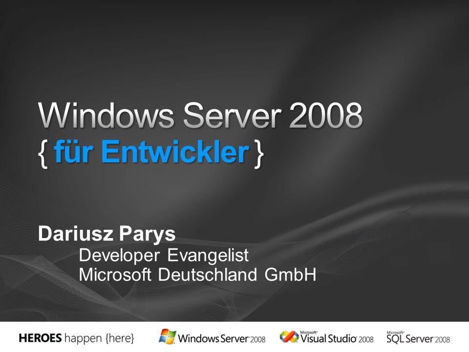 Dariusz Parys Developer Evangelist Microsoft Deutschland GmbH