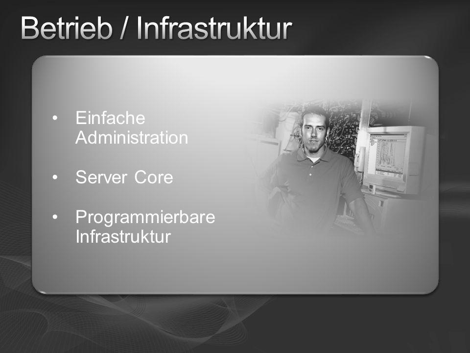 Einfache Administration Server Core Programmierbare Infrastruktur