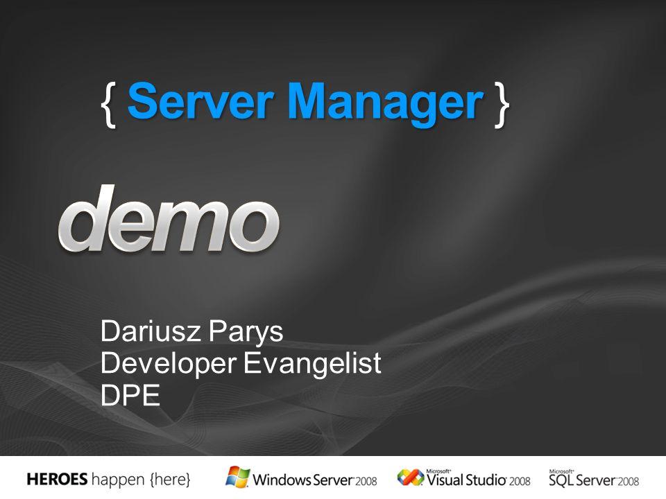 { IIS7 und WAS } Dariusz Parys Developer Evangelist DPE