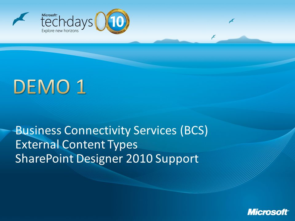 Business Connectivity Services (BCS) External Content Types SharePoint Designer 2010 Support