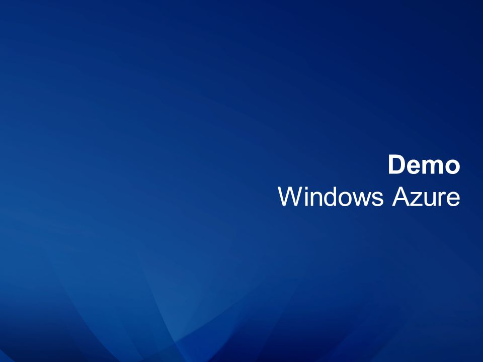 Demo Windows Azure