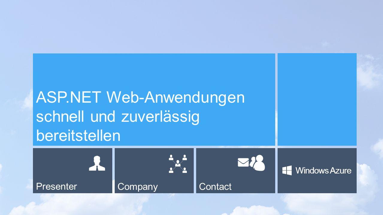 PresenterCompanyContact Windows Azure ASP.NET Web-Anwendungen schnell und zuverlässig bereitstellen