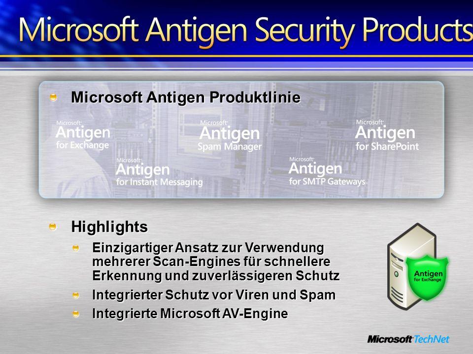 Microsoft Antigen Produktlinie Highlights Einzigartiger Ansatz zur Verwendung mehrerer Scan-Engines für schnellere Erkennung und zuverlässigeren Schut