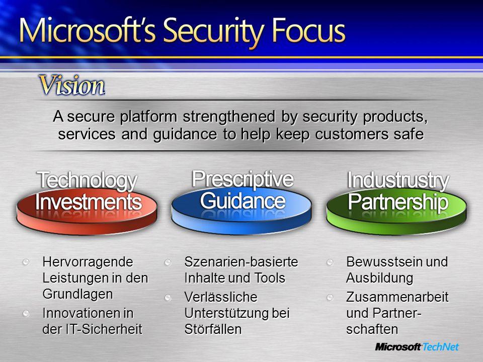 A secure platform strengthened by security products, services and guidance to help keep customers safe Hervorragende Leistungen in den Grundlagen Inno