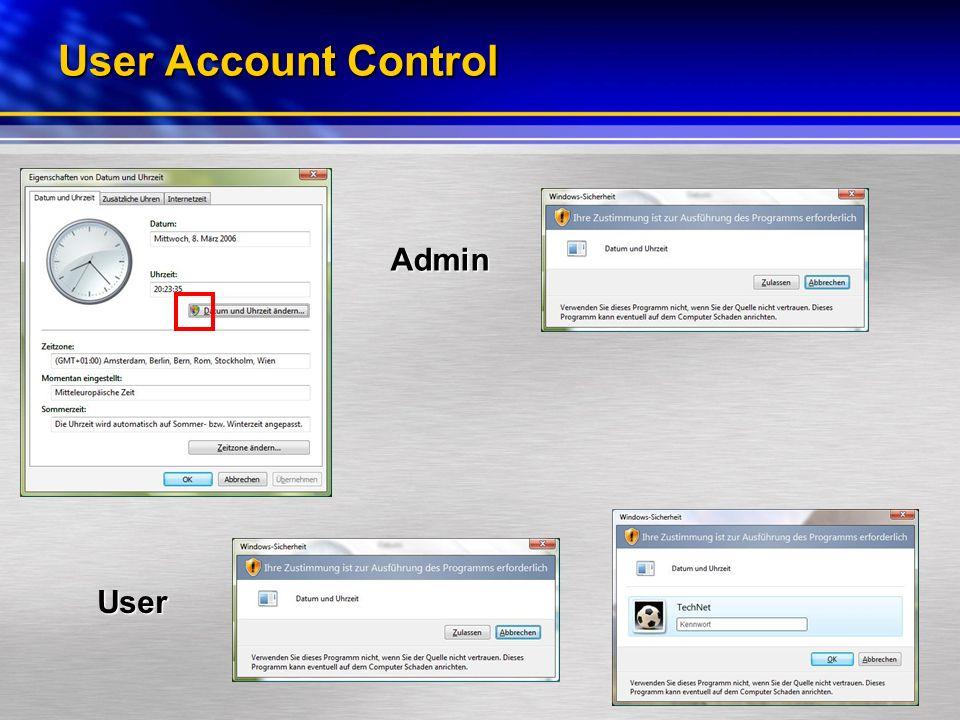 User Account Control Admin User