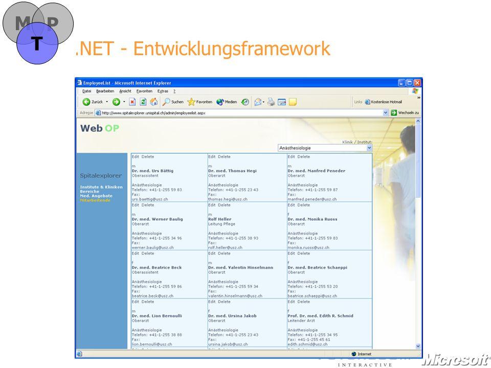 .NET - Entwicklungsframework M P T