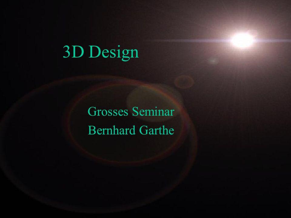 Inhalt - 3D Modellierung - Texturen und Oberfläche - Licht - Rendering - Animation - 3D Programme - Fazit