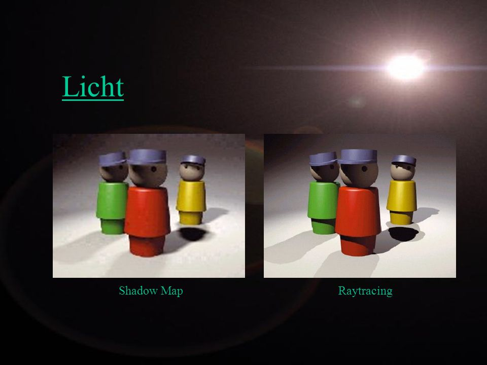 Licht Shadow Map Raytracing