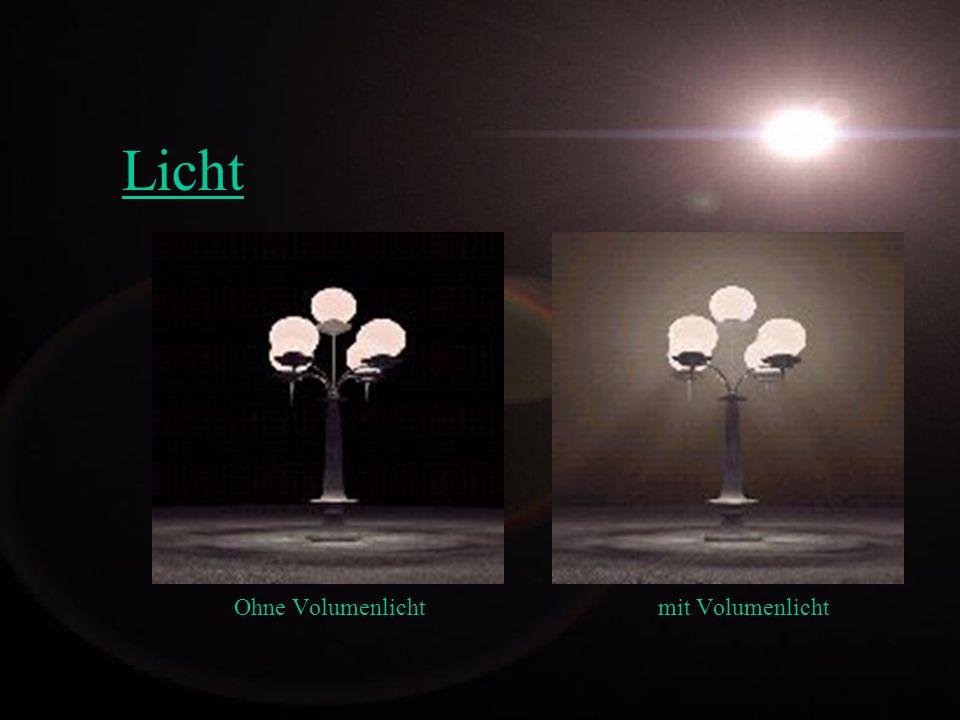 Licht Ohne Volumenlicht mit Volumenlicht