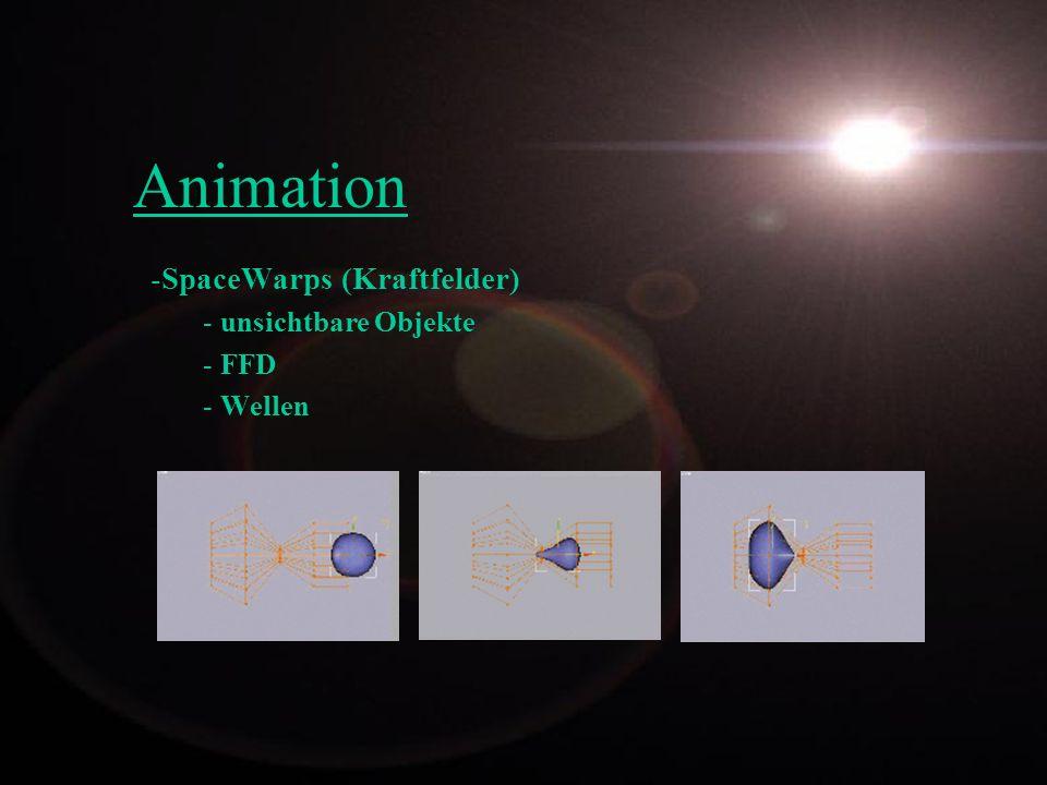 -SpaceWarps (Kraftfelder) - unsichtbare Objekte - FFD - Wellen